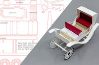 Vintage Carriage made of paper, cut with Cutting Machine (.studio3, .svg)