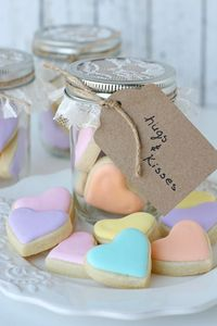 These adorable Heart Cookies in a Jar make an adorable Valentine's Day gift, or little treat for most any occasion!