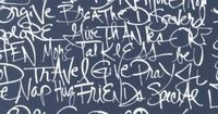This artistic handwritting text print is Jennifer Sampou Color: Full Text in Indigo from gothamquilts.com