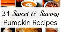 This round-up of sweet & savory pumpkin will address the need for warm soups, thick chilis, and all foods and snacks perfect for autumn!