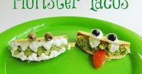 Halloween Monster Tacos from KitchenFunWithMy3Sons.com
