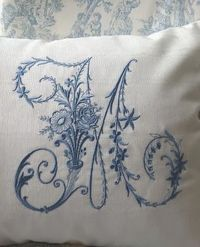 M embroidered