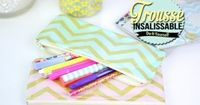 DIY BACK TO SCHOOL FACILE : TROUSSE INSALISSABLE - Pencil case dirt-resistant (english subs) - YouTube