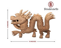 Handmade Wooden Dragon Sculpture, Carved Wood Sculpture, Walnut Wood Statue for Home Decor, Good Luck Dragon, Wood Dragon Home Decor $241.00