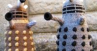Fancy some fluffy terror? These amigurumi dalek warriors could be yours - providing you're okay at crochet. Over at Ravelry.com Lucy Ravenscar has made the