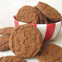 Gingersnaps - Snapping crisp and light, flavored with ginger and molasses, these cookies are a holiday favorite.