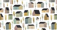 Houses pattern ©Mark Hoffmann featured on Print and Pattern blog.