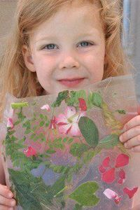 My children love to collect leaves, twigs, and flowers petals anytime we are outside. We have quite a collection!