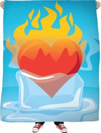 ROFB Fire And Ice Fleece Blanket $65.00