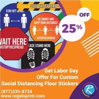 Get 25% Labor Day Discount on Custom Social Distancing Floor Stickers.jpg