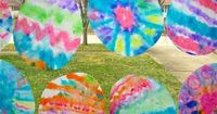 Coffee filters + markers + spray bottle = fun spring decorations!