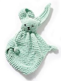 Bunny Blanket Buddy #50722-2 (crochet) free pattern Lion Brand Yarn