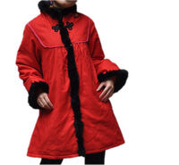red Winter babydoll padded coat