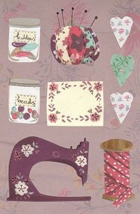 Lovely crafty sewing #illustration by Emma Block