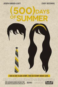 500 Days of Summer is my favorite movie. The movie poser is awesome because it shows just the hair and accessories of the two main characters. It looks so simple but it is very beautiful.
