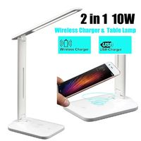 Qi Wireless Charger LED Desk Table Lamp Light Touch Reading for Qi-enabled Smart Phones for iPhone 11 Pro Max Xiaomi