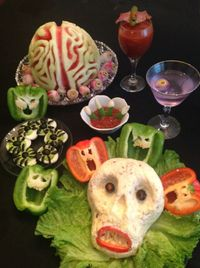 Creepy Halloween party food.