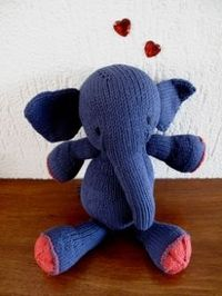 Free elephant knitting patterns.How to knit elephant designs. So many cute knit elephants to make whether you want to make a mini elephant or...