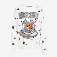 Moschino Ufo Teddy Womens Long Sleeves Sweater White