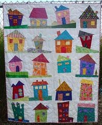 Wonky House Quilt by Simply Sandy
