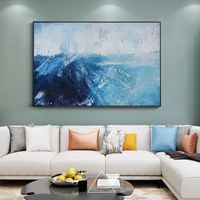 Sea wave Modern Abstract acrylic paintings on canvas art original texture painting Large framed wall art wall pictures cuadros abstractos $123.75