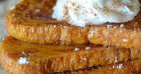 Pumpkin Pie French Toast - I decided to use a french sliced bread for this recipe, but you can use what you have on hand. The thicker the bread, the better. I a