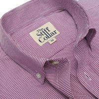 Burgundy Houndstooth 2 Ply Button Down Shirt �'�1999.00