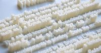 hongtao zhou 3d printed textscape extruded typography