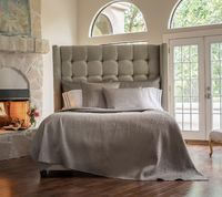 Retro Pewter Coverlets and Pillows by Lili Alessandra $575.00