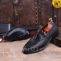 Patent Leather Shoes | CWMALLS® Woven Leather Loafers CW708117[Father's Day Gifts, Handmade]
