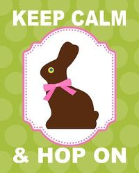 FREE! 8x10 Keep Calm & Hop On Chocolate Bunny printable