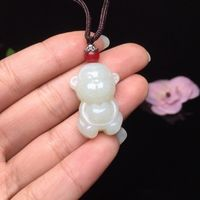 White jade monkey pendant-animal necklace for women-necklace for mom