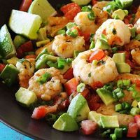 One Skillet Shrimp with Tomato and Avocado. It's all the foods we love together in one healthy, paleo-friendly, gluten-free, low-carb recipe!