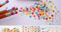 "Eraser Spot Stamps �€"" Eraser spot stamps are an easy way to decorate any paper goods!"