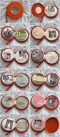 CD Wallet made into a photo scrapbook. What a cute idea.