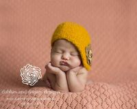Newborn girl nest coral | Dahlias and Daisies Designs