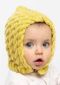 c2afc7d61f2 Free Knitting Pattern for Easy Cabled Baby Bonnet - This easy baby bonnet  is knit in