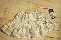 Coloring Book Twirly Skirt by LittlePinkCarousel on Etsy, $32.00