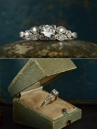 vintage engagement rings...they don't make em like they used to!