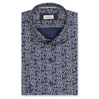 Create a stylish look with this Oxford Men multi floral printed shirt. Woven in Egyptian cotton. this shirt has a fine finish.  �€� 100% Cotton  �€� Classic collar  �€� French cuff  �€� Oxford Men  �€� Machine W...
