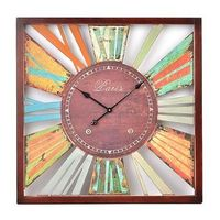 Love this clock. Have a green couch and light blue walls. Looks great with the blue showing through.