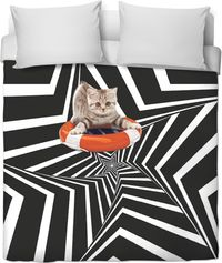 Cat Star Duvet Cover $120.00