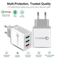 Bakeey 3 Ports Quick Charge 3.0 USB Charger Power Adapter for iPhone for Samsung Xiaomi