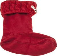 Hunter Red Kids Cable Boot Socks Hunter keep the most stylish of kids nice and snug during the colder months, with their Kids Cable Welly Sock. Arriving in vibrant red fabric, the accessory can be folded over their wellies to display http://www.comparesto...