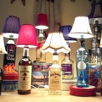 How to Make a Bottle Lamp. A must for the apartment!