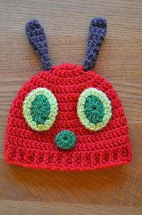 Hand Me Down Hobby: Hungry Caterpillar Baby Hat ~ Free Pattern