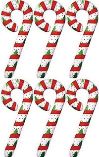 """Set of 6 - 42"""" Giant Inflatable Christmas Decorations - Candy Cane -Set of 6 Candy Canes $17.95"""
