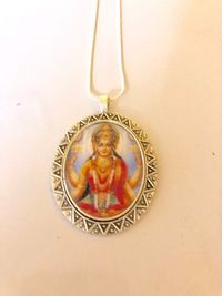 Lakshmi and Ganesh pendant necklace, metaphysical jewelry, religious gifts, women's jewelry $22.00