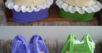 Super Cool. Ravelry: Bikini Swimsuit Bag pattern by Knotty Hooker Designs - I am soooo making these for the beach!!
