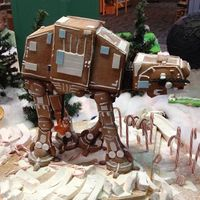 While this totally epic-looking gingerbread AT-AT may look delicious at first glance, we all know that gingerbread creations do not usually taste all that great